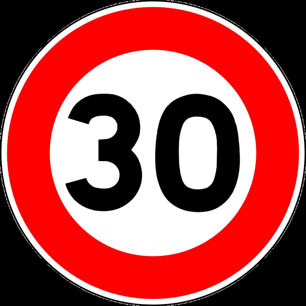 señal 30km/h